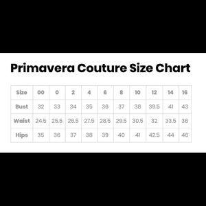 Primavera Couture Dresses - PRIMAVERA COUTURE  V NECK SEQUINED GOWN 1709